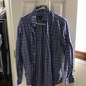 vineyard vines men's flannel dress shirt. size M
